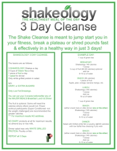 3-day-shakeology-cleanse-instructions